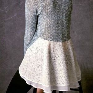 ANTHROPOLOGIE | Clu + Willoughby Lace Sweater